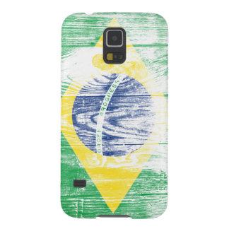 Vintage Brazil national flag White Samsung S5 Case