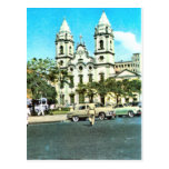 Vintage    Brazil Recife, Baroque Cathedral Post Card