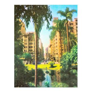 Vintage  Brazil, Rio de Janero apartments Postcard