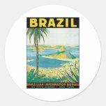 Vintage Brazil Round Sticker