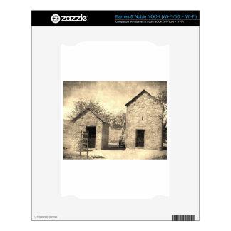 Vintage Brick Homestead Buildings NOOK Decals