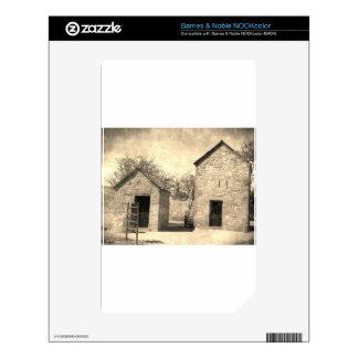 Vintage Brick Homestead Buildings Decals For The NOOK Color