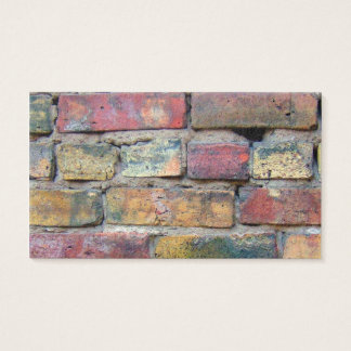 Vintage Bricks Background Business Card