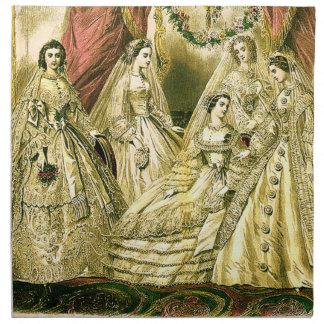 Vintage Bridal Brides Antique White Wedding Cloth Napkin