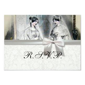 Vintage Bridal Brides Antique White Wedding 4.5x6.25 Paper Invitation Card