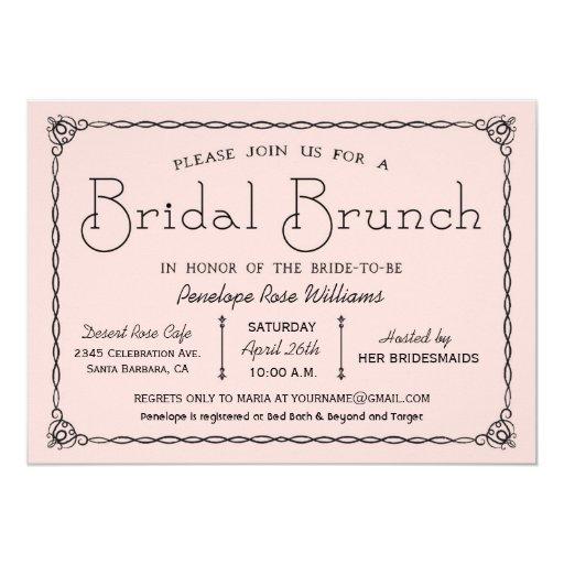 Vintage bridal brunch bridal shower invitations zazzle for Classic bridal shower invitations
