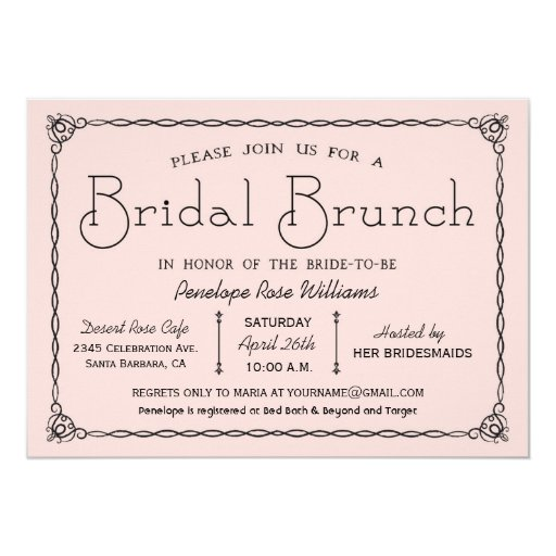vintage bridal brunch bridal shower invitations zazzle