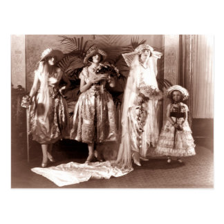 Vintage Bridal Fashion Post Card