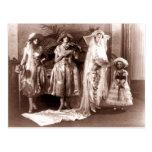 Vintage Bridal Fashion Postcard