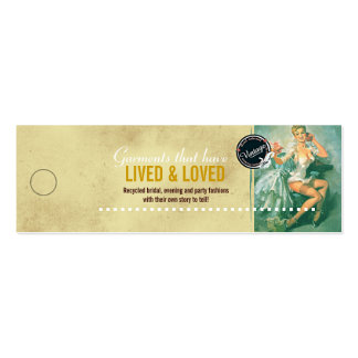 Vintage Bridal Fashions - Merchandise Price Tag Mini Business Card
