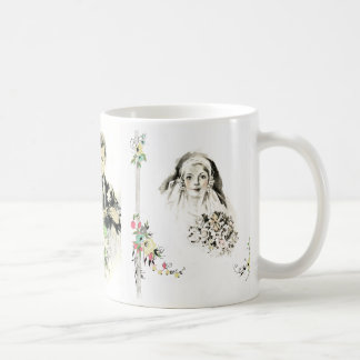 Vintage Bridal, Marriage, Wedding, Anniversary Mug