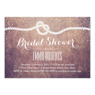 Vintage Bridal Shower Confetti Dots Tying the Knot Card