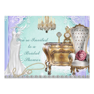 VINTAGE BRIDAL SHOWER DESIGN  INVITATION LAVENDER