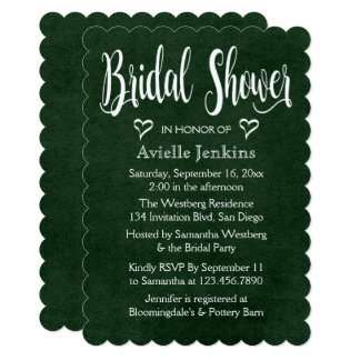 Vintage Bridal Shower Distressed Green White Heart Card