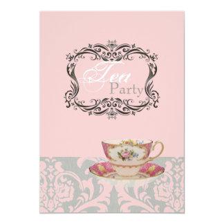 "Vintage Bridal Shower EnglishTea Party Invitation 5"" X 7"" Invitation Card"