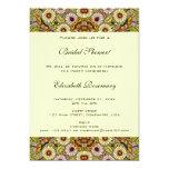 Vintage Bridal Shower, Garden Flowers Butterflies 5x7 Paper Invitation Card