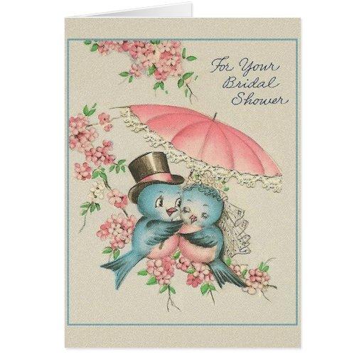 vintage bridal shower greeting card zazzle With wedding shower greeting cards