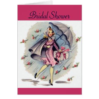 Vintage Bridal Shower Guest Card