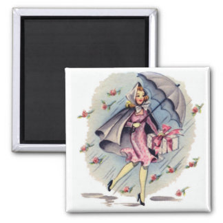 Vintage Bridal Shower Guest 2 Inch Square Magnet
