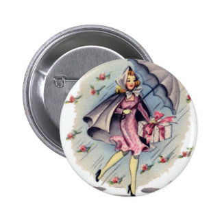Vintage Bridal Shower Guest Pinback Button