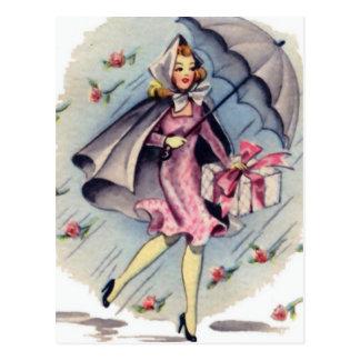Vintage Bridal Shower Guest Postcard