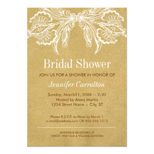 Bridal shower invitations zazzle vintage bridal shower for Classic bridal shower invitations