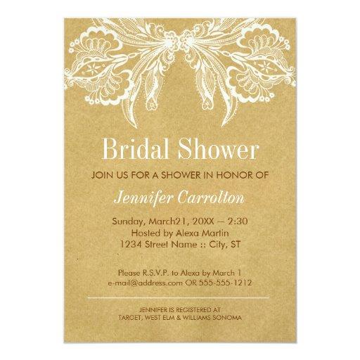 Vintage bridal shower invitation zazzle for Classic bridal shower invitations