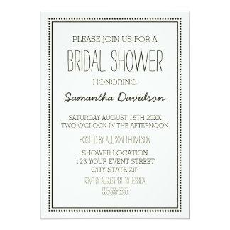 Vintage Bridal Shower Invitation Cards