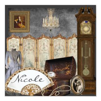 Vintage Bridal Shower Invitation Personalized