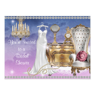 VINTAGE BRIDAL SHOWER INVITATION PINKS & BLUES Wal