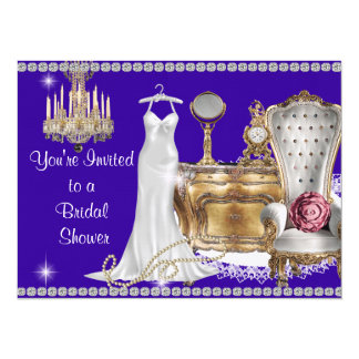 VINTAGE BRIDAL SHOWER INVITATION PURPLE BACKGROUND