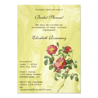 Vintage Bridal Shower, Rose of Love by Redoute Card