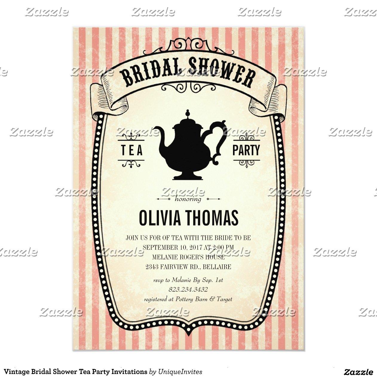 Vintage Bridal Shower Tea Modern Bride Clipart