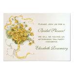 Vintage Bridal Shower Vintage Yellow Flower Floral Invites