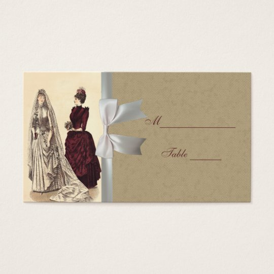 Vintage Bridal Wedding Women Business Card