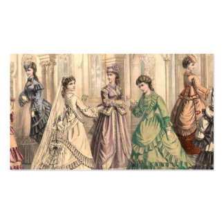 Vintage Bride and Attendants Business Cards