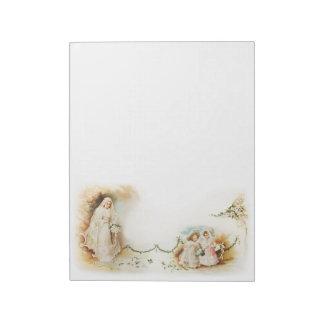 Vintage bride and bridesmaids notepad