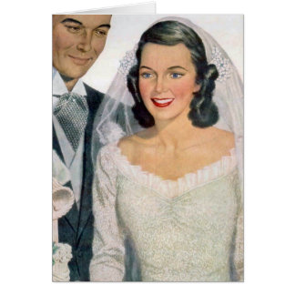 Vintage Bride and Groom Card