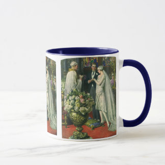 Vintage Bride and Groom, Church Wedding Ceremony Mug