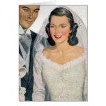 Vintage Bride and Groom Greeting Card