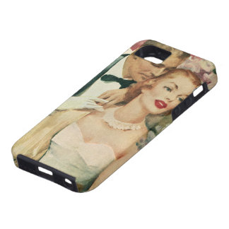 Vintage Bride and Groom Newlyweds and Flowers iPhone 5 Cover