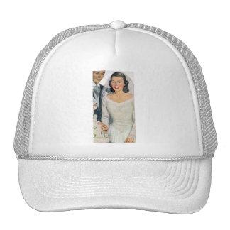 Vintage Bride and Groom Trucker Hat