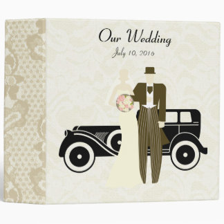 Vintage Bride and Groom Wedding Binder