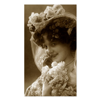 Vintage bride bookmark Double-Sided standard business cards (Pack of 100)