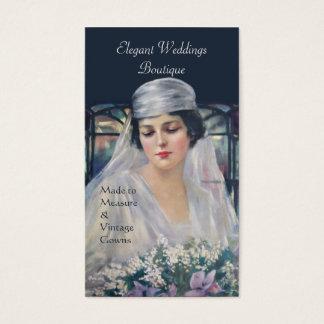 Vintage bride bridal gown wedding business card