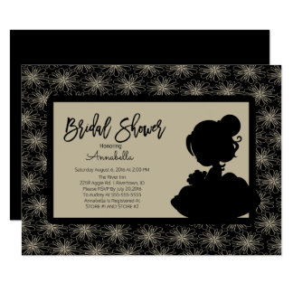 Vintage Bride Bridal Shower Invitation