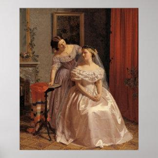 Vintage Bride, Bridesmaid, Maid of Honor Wall Art Poster