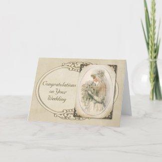 Vintage Bride card