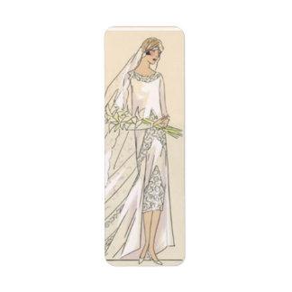 Vintage bride label