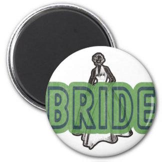 Vintage Bride Magnet